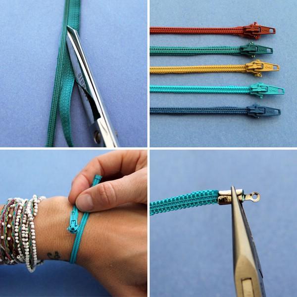 Как сделать браслет с молний