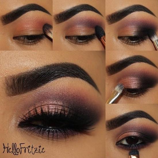 Вечерний макияж карие глаза пошаговое