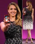 Джессика Альба на мероприятии по выпуску Windows Phone 8 в Сан Франциско, 29.10.2012