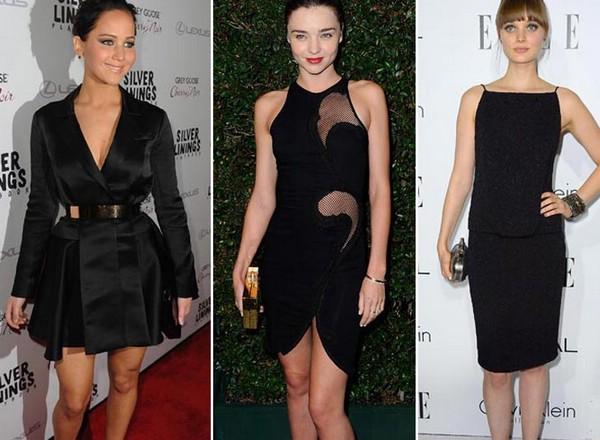 Образы под черное платье