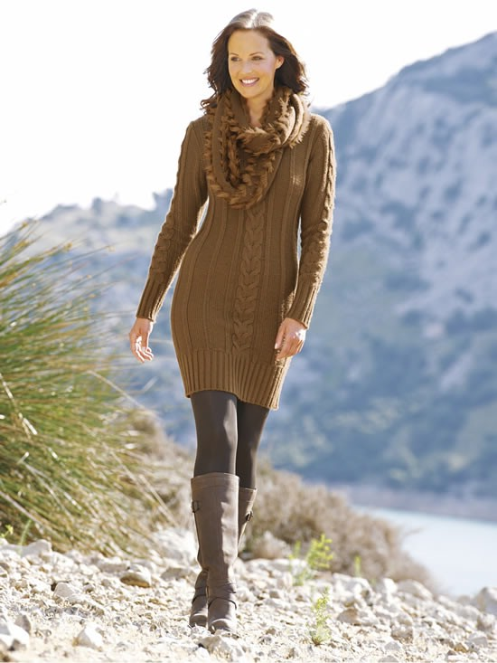 теплое вязаное платье спицами схемы