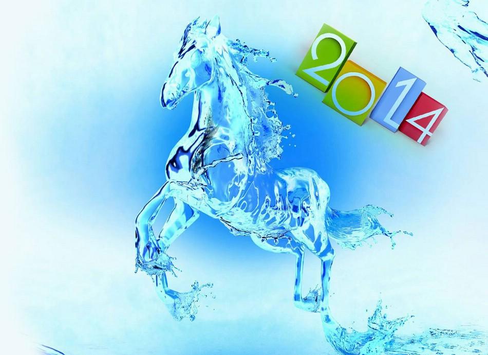 Новый 2014 Год Лошади