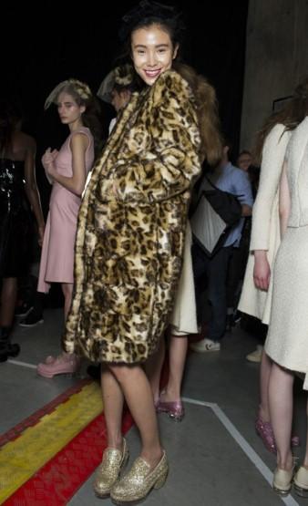 В тренде леопардовое пальто