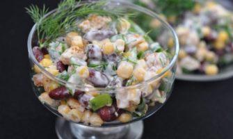 Салаты с фасолью и консервированной кукурузой. Рецепты вкусных салатов с кукурузой консервированной и фасолью