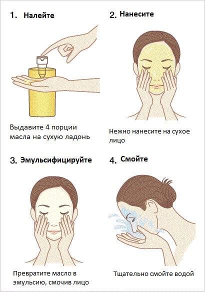 как использовать гидрофильное масло